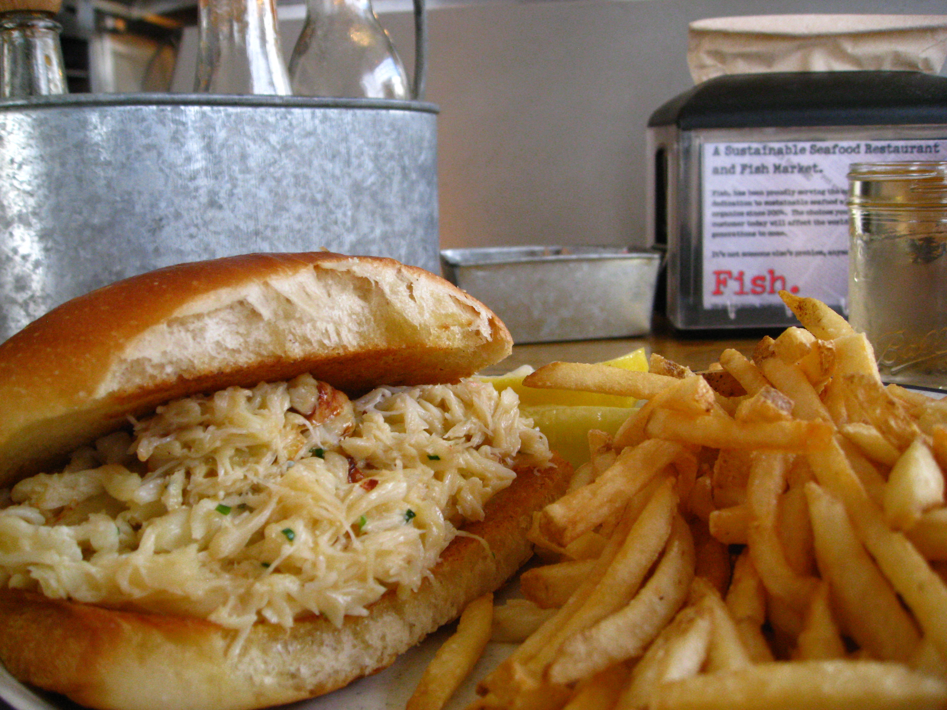 Fish. Dungeness Crab Sandwich