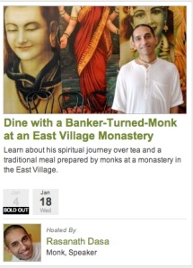 Dine with a Banker Turned Monk
