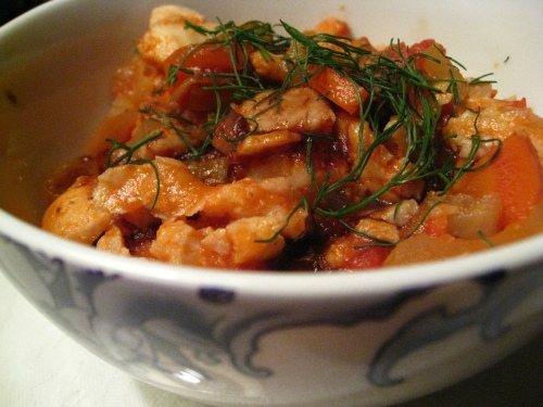 Spicy Balsamic and Fennel Fish Stew