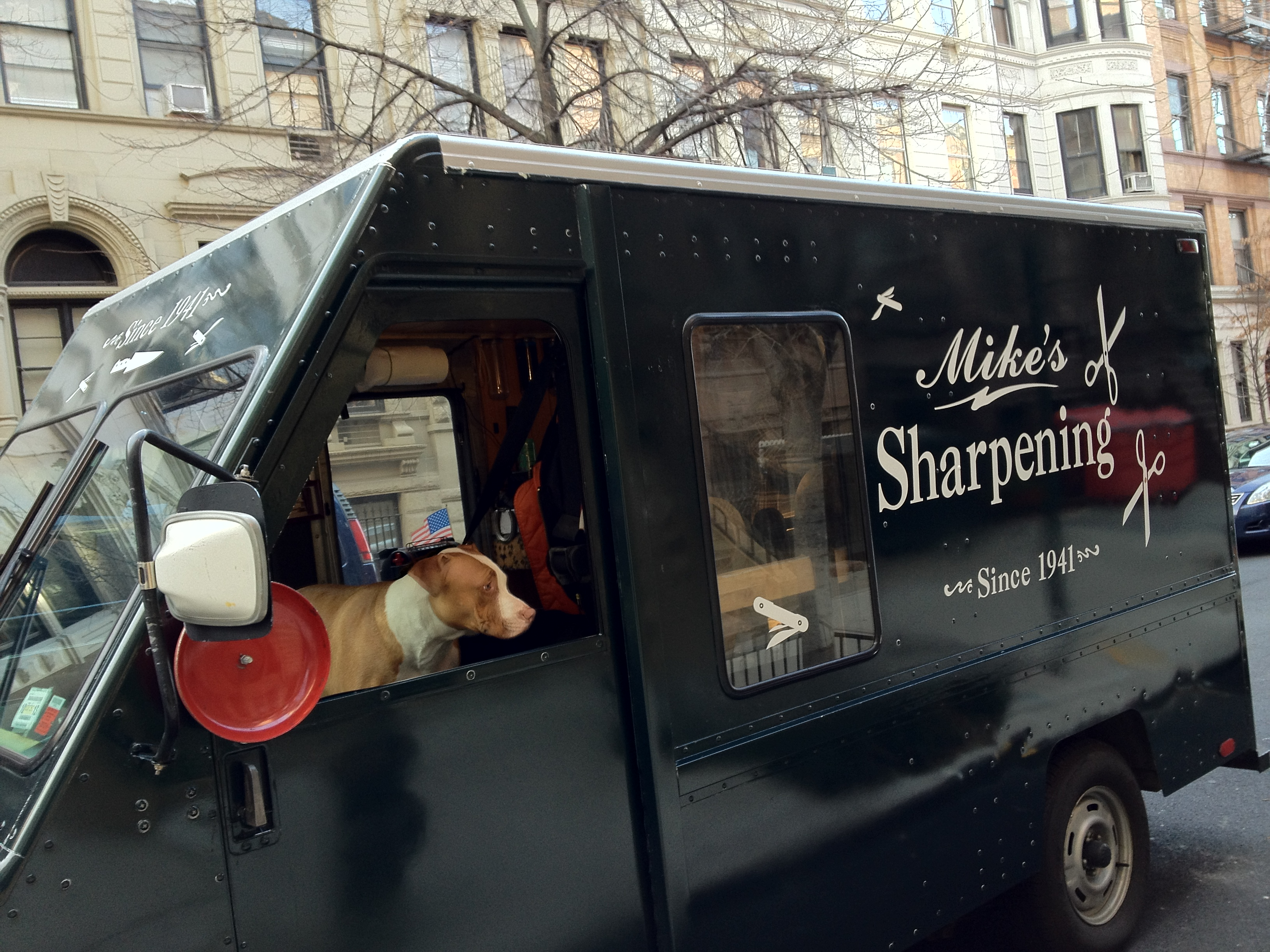 Inside our mobile sharpening shop - Mike S Knife Sharpening Truck Rolls City Style