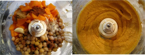 spiced sweet potato hummus