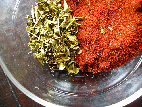 Oregano Indigo and New Mexican Chili Powder