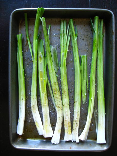 Grilled Spring Garlic
