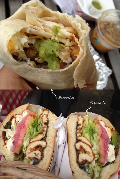 Cemita Burrito and Sammie
