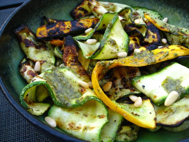 recipe goodness :: grilled zucchini & summer squash pesto ...