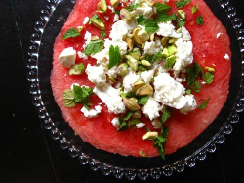 Watermelon-Feta Steak