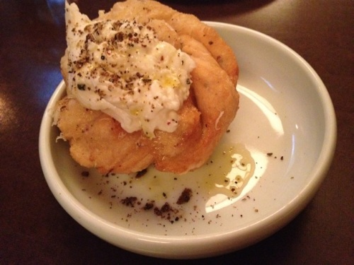 Garlic Bread with Burrata