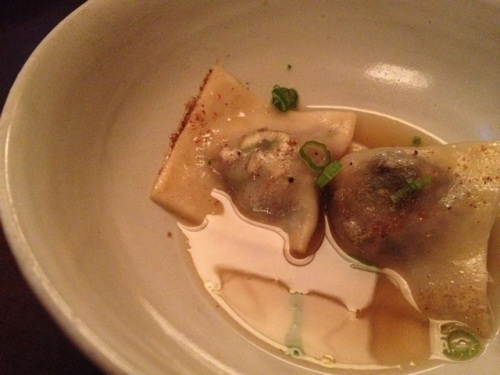 Guinea Hen Dumplings with Aromatic Broth