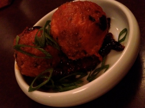 Sweetbread polpette with fig jam